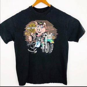 Harley-Davidson mens black Wild one t-shirt Texas.